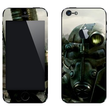 Виниловая наклейка «Fallout 3 — Убежище» на телефон Apple iPhone 5