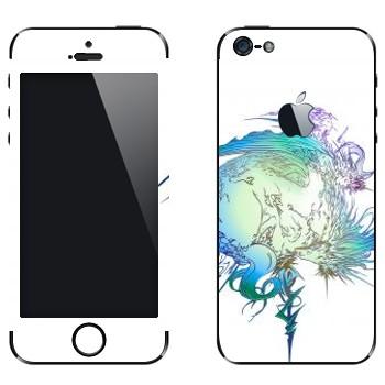 Виниловая наклейка «Final Fantasy 13 абстракция» на телефон Apple iPhone 5
