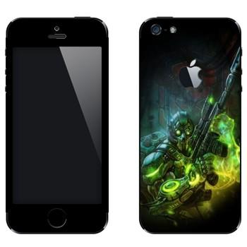 Виниловая наклейка «Ghost - Starcraft 2» на телефон Apple iPhone 5