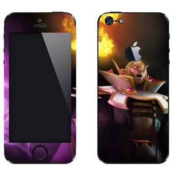 Виниловая наклейка «Invoker - Dota 2» на телефон Apple iPhone 5