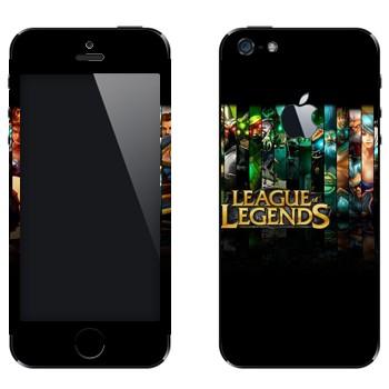 Виниловая наклейка «League of Legends логотип» на телефон Apple iPhone 5