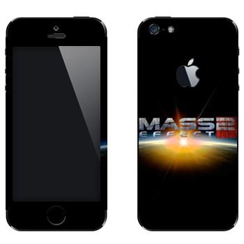 Виниловая наклейка «Mass effect логотип» на телефон Apple iPhone 5