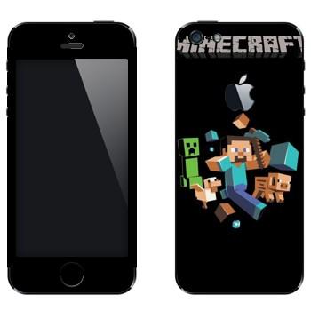 Виниловая наклейка «Minecraft» на телефон Apple iPhone 5