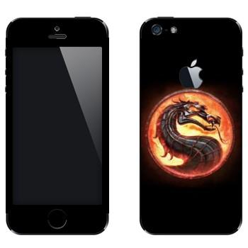 Виниловая наклейка «Mortal Kombat эмблема» на телефон Apple iPhone 5