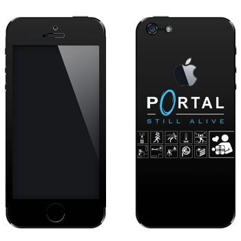 Виниловая наклейка «Portal - Still Alive» на телефон Apple iPhone 5