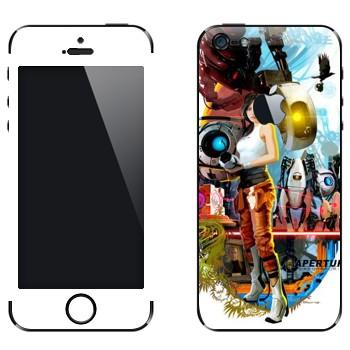 Виниловая наклейка «Portal 2 коллаж» на телефон Apple iPhone 5