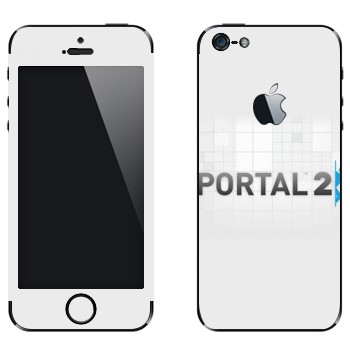 Виниловая наклейка «Portal 2 логотип на белом фоне» на телефон Apple iPhone 5