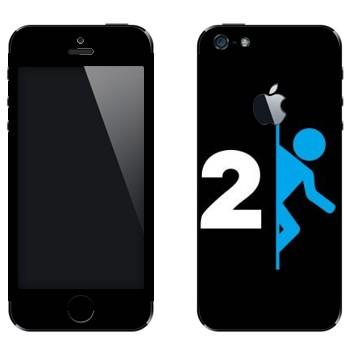 Виниловая наклейка «Portal 2 логотип» на телефон Apple iPhone 5