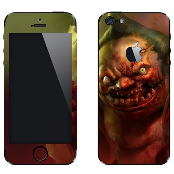 Виниловая наклейка «Pudge - Dota 2» на телефон Apple iPhone 5