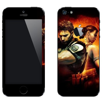 Виниловая наклейка «Resident Evil игра» на телефон Apple iPhone 5