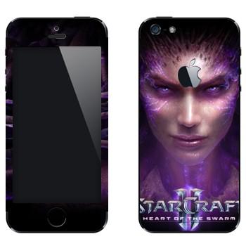 Виниловая наклейка «StarCraft 2 - Сердце Роя» на телефон Apple iPhone 5