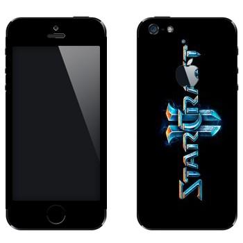 Виниловая наклейка «Starcraft 2 логотип вертикальный» на телефон Apple iPhone 5