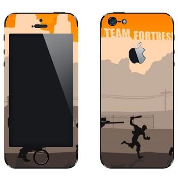 Виниловая наклейка «Team fortress 2» на телефон Apple iPhone 5
