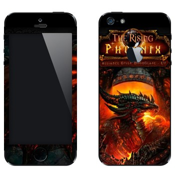 Виниловая наклейка «The Rising Phoenix - World of Warcraft» на телефон Apple iPhone 5
