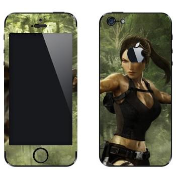 Виниловая наклейка «Tomb Raider» на телефон Apple iPhone 5