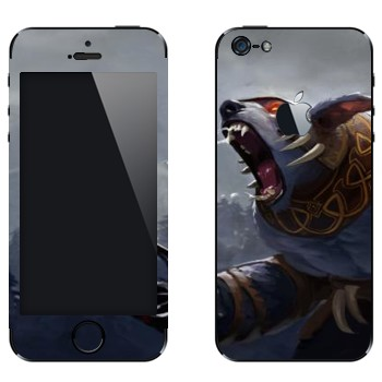 Виниловая наклейка «Ursa  - Dota 2» на телефон Apple iPhone 5