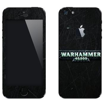 Виниловая наклейка «Warhammer 40000» на телефон Apple iPhone 5