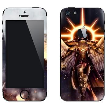 Виниловая наклейка «Warhammer Ангел» на телефон Apple iPhone 5