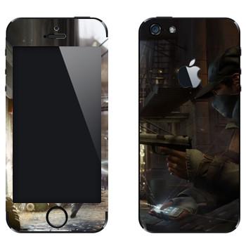 Виниловая наклейка «Watch Dogs  - Невидимый» на телефон Apple iPhone 5