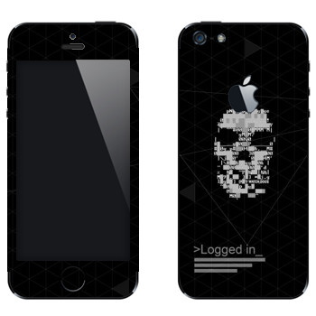 Виниловая наклейка «Watch Dogs - Logged in» на телефон Apple iPhone 5