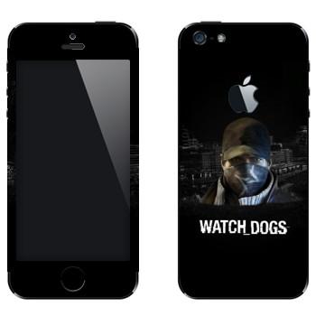 Виниловая наклейка «Watch Dogs - Эйден Пирс» на телефон Apple iPhone 5