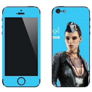 Виниловая наклейка «Watch Dogs - Клара Лилл» на телефон Apple iPhone 5