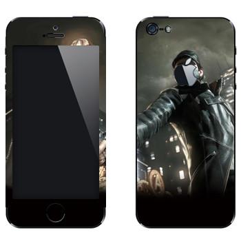 Виниловая наклейка «Watch_Dogs» на телефон Apple iPhone 5