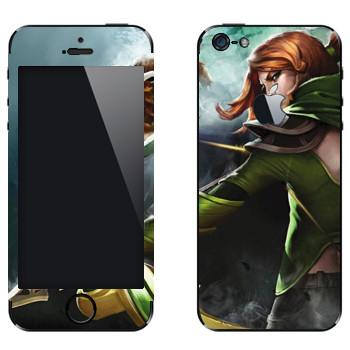 Виниловая наклейка «Windranger - Dota 2» на телефон Apple iPhone 5