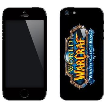 Виниловая наклейка «World of Warcraft : Wrath of the Lich King вертикальный» на телефон Apple iPhone 5