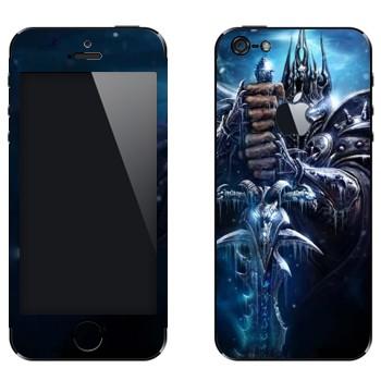 Виниловая наклейка «World of Warcraft : Ледяной трон» на телефон Apple iPhone 5