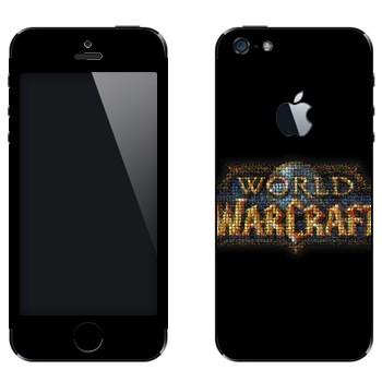 Виниловая наклейка «World of Warcraft логотип» на телефон Apple iPhone 5