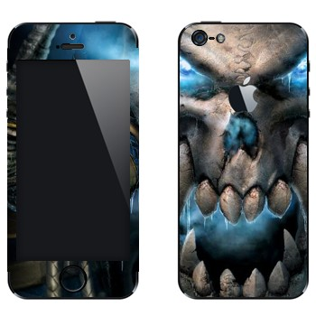 Виниловая наклейка «Wow skull» на телефон Apple iPhone 5