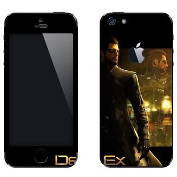 Виниловая наклейка «Адам Дженсен - Deus Ex 3» на телефон Apple iPhone 5