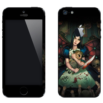 Виниловая наклейка «Алиса - Alice: Madness Returns» на телефон Apple iPhone 5
