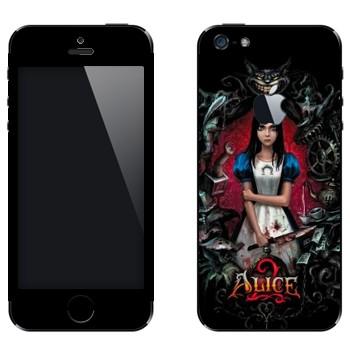 Виниловая наклейка «Алиса: безумие возвращается» на телефон Apple iPhone 5