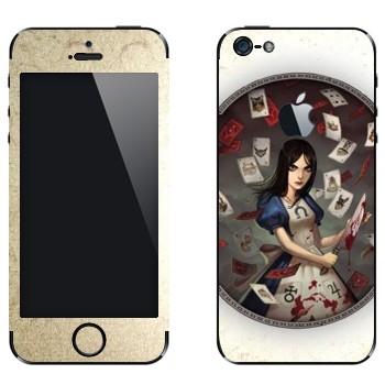 Виниловая наклейка «Алиса c ножом - Alice: Madness Returns» на телефон Apple iPhone 5