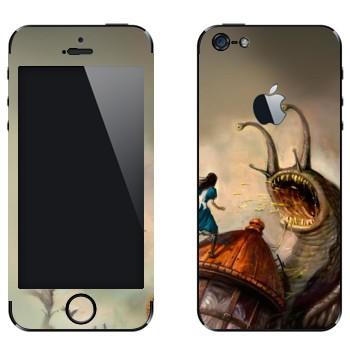 Виниловая наклейка «Алиса и гигантская улитка - Alice: Madness Returns» на телефон Apple iPhone 5