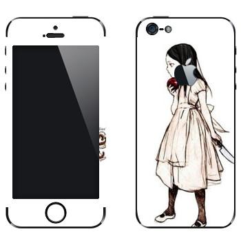 Виниловая наклейка «Алиса с яблоком - Америкэн Макги: Алиса» на телефон Apple iPhone 5