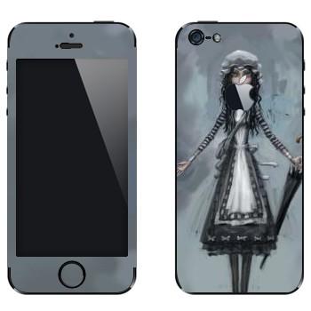 Виниловая наклейка «Алиса с зонтом - Alice: Madness Returns» на телефон Apple iPhone 5