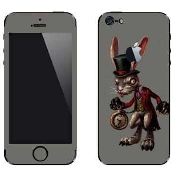 Виниловая наклейка «Белый Кролик - Америкэн Макги: Алиса» на телефон Apple iPhone 5