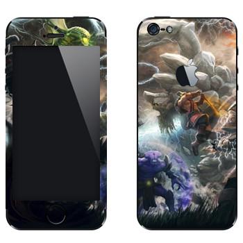 Виниловая наклейка «Битва в Dota 2» на телефон Apple iPhone 5