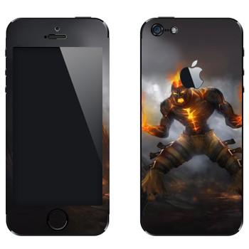 Виниловая наклейка «Брэнд - Пылающее возмездие» на телефон Apple iPhone 5