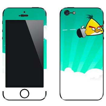 Виниловая наклейка «Чак - Angry Birds» на телефон Apple iPhone 5
