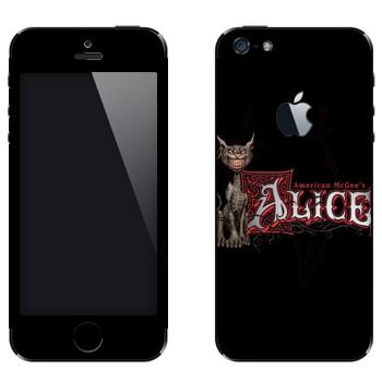 Виниловая наклейка «Чеширский Кот - American McGee's Alice» на телефон Apple iPhone 5