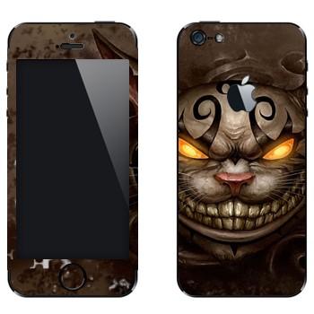 Виниловая наклейка «Чеширский Кот - Алиса в стране чудес» на телефон Apple iPhone 5