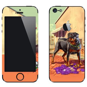 Виниловая наклейка «Чоп - GTA5» на телефон Apple iPhone 5