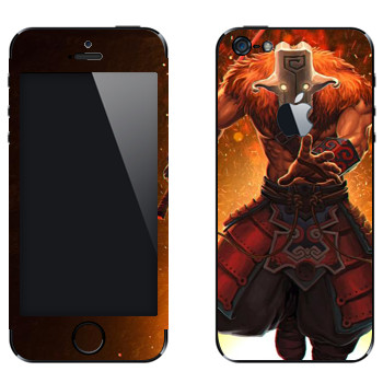 Виниловая наклейка «Джаггернаут - Dota 2» на телефон Apple iPhone 5