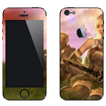 Виниловая наклейка «Эльфы - Lineage 2» на телефон Apple iPhone 5