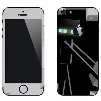 Виниловая наклейка «Эндермен - Minecraft» на телефон Apple iPhone 5