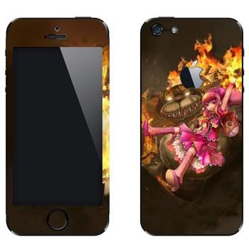 Виниловая наклейка «Энни - Дитя тьмы» на телефон Apple iPhone 5